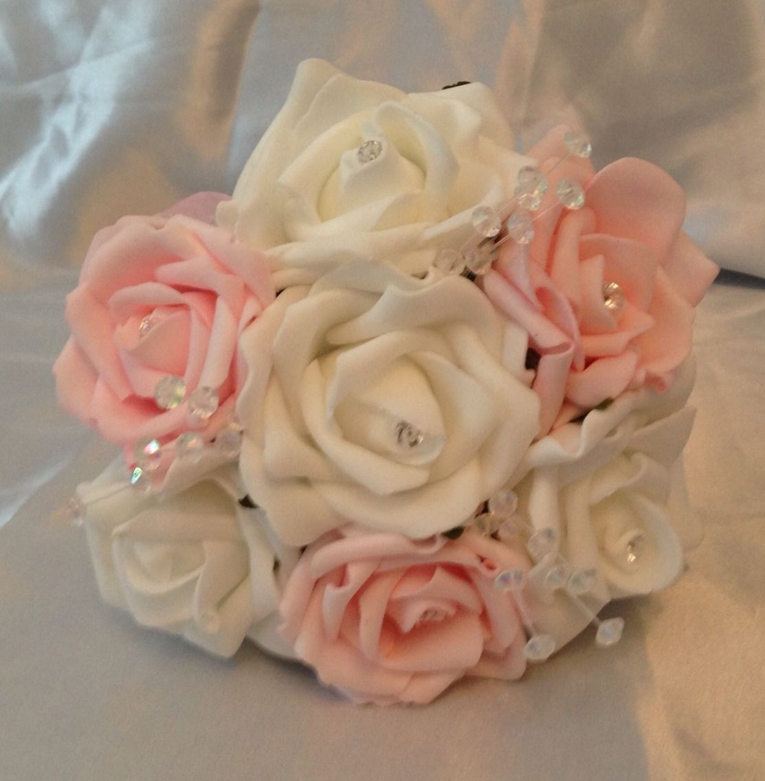 pink flower bouquets for weddings 2 artificial pink white wedding flowers flower 6580